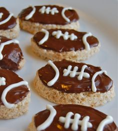 Chef Mommy: Football Rice Krispie Treats