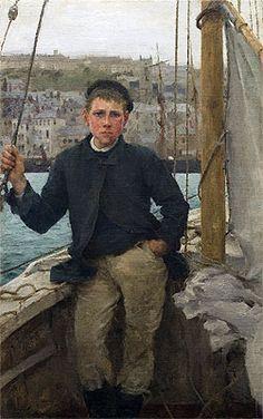 Title: Our Jack, 1886 Artist: Henry Scott Tuke Location: Public Collection