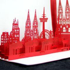 #popupkarte #colognecards #3DKarte #kölnerdom #Papierkunst