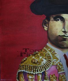 """Er Sordao Romano"". Miradas de la Fiesta Óleo sobre lienzo 46x55 cm  (435 €)"