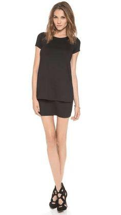 Susana Monaco | Bri Layered Shift Dress #SusanaMonaco #dress