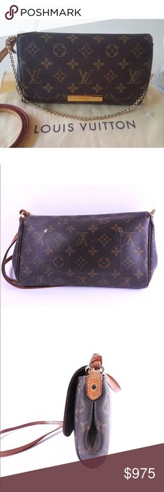 Authentic Louis Vuitton Favorite PM Monogram Rare 7da75d493752a