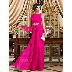 [XmasSale]Sheath/Column Bateau Floor-length Chiffon Evening/Prom Dress (742534) – AUD $ 103.19