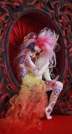 Sugar Skull Dia de Los Muertos A Day of The Dead Maiden by Nicole West | eBay