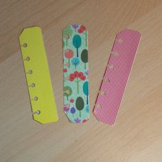 Pocket Filofax pagemarkers - set of 3.  Just £1.20 from JustKeepPinning on Etsy