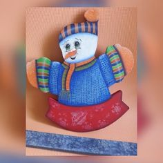 Muñeco de Nieve en Mdf