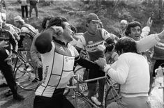 The infamous Hinault punch.
