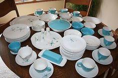Vintage-Mid-Century-Salem-North-Star-Atomic-Dishes-81-Pieces