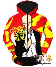One Punch Man Saitama and Song Promo Hoodie - One Punch Man 3D Hoodies And Clothing