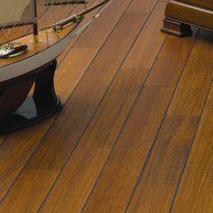 Sol pièce principale et chambre: parquet pont de bateau