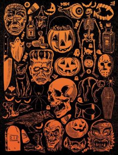 Halloween Party Ideas That You Must Know Halloween-Party-Ideen 2 Retro Halloween, Halloween Kunst, Fröhliches Halloween, Halloween Artwork, Halloween Designs, Halloween Wallpaper, Holidays Halloween, Halloween Decorations, Vintage Halloween Images