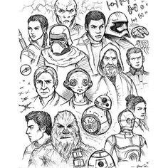 Star Wars 7 sketch art