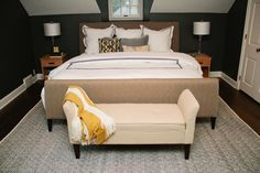 Beautiful master suite: Kendall Charcoal Paint