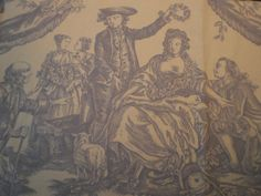 """DAVID YEOMANS REMNANT TOILE FABRIC """"ENGLISH TOILE""""23 X 102 CM COTTON BLEND in Crafts, Sewing & Fabric, Fabric 
