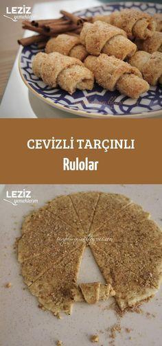 Cinnamon Rolls with Walnut - Gebäck Sweet Recipes, Cake Recipes, Dessert Recipes, Delicious Desserts, Yummy Food, Sweet Cookies, Turkish Recipes, Food And Drink, Cooking Recipes