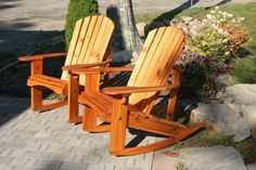 "Standard Adirondack rockers finished in ""natural"" stain / sealer"