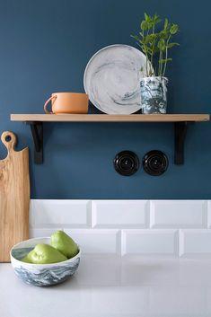Decor, Kitchen Design, Floating Shelves, Furniture, House, Kitchen, Home Decor, Ship Lap Walls, Deco