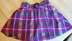 Land's End Girl's Pink Purple Brown 100% Corduroy Skirt Skort Size 6x  #LandsEnd