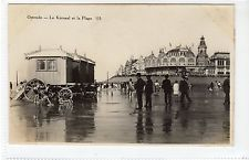 LE KURSAAL ET LA PLAGE, OSTENDE: Belgium postcard (C17054)