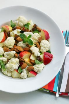 Cauliflower, Apples and Almonds --- easy, fresh & healthy