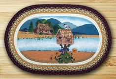 Earth Rugs Cabin Lake Oval Patch Braided Area Rugs Are A Great Addition For Your Home Or Cabin For That Great Country Feeling!!!! ON SALE NOW!!!!