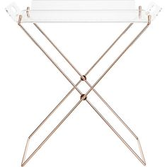 would make an awesome small bar or side table... acrylic tray table  | CB2 $80