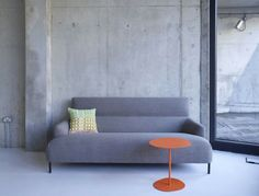 Lily for SCP Powder-coated steel Scp, Love Seat, Lily, Couch, Architecture, Interior, Table, Concrete Walls, Furniture