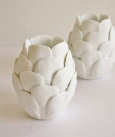 Porcelain Artichoke Votive Holder $28.00  www.highstreetmarket.com
