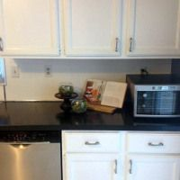 How To: Countertop Makeover! Painting over laminate for a cheap pick-me-up. Pinterior Designer
