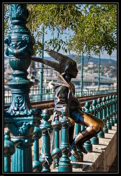 The famous little princess statue was inspired by the artist Marton László's own daughter, wearing a costume. Located by the Danube Promenade in Pest,  Budapest, Hungary