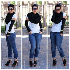 Fashion, Lifestyle, and DIY: DIY Sewing: Fingerless Gloves & Shoulder Cape + Pattern Review