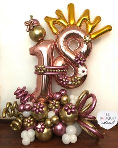 Balloon Crafts, Balloon Gift, Birthday Balloon Decorations, Birthday Balloons, 21st Birthday Bouquet, Cool Paper Crafts, Happy Party, Balloon Bouquet, Happy Birthday Greetings