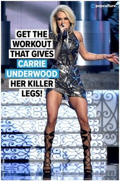 Here's Exactly How to Get Legs Like Carrie Underwood! When you think of Carrie Underwood, what do you think of? THOSE LEGS! Get the exercises that Carrie uses to get those sexy, toned, strong legs of hers! Carrie Underwood Workout, Carrie Underwood Legs, Fast Workouts, Body Workouts, Killer Leg Workouts, Body Exercises, Tabata Workouts, Leg Training, Celebrity Workout