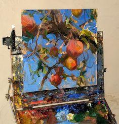 Oil Painting Flowers, Oil Painting On Canvas, Painting & Drawing, Canvas Wall Art, Flower Paintings, Watercolor Flowers, Art Oil Paintings, Watercolor Painting, Lemon Painting