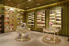 Miu Miu store by Roberto Baciocchi, Tokyo store design Retail Store Design, Retail Shop, Display Design, Box Design, Visual Merchandising, Valentino Store, Lingerie Store Design, Miu Miu, Fashion Tape