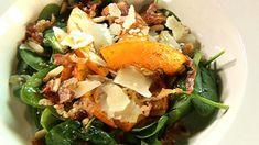 Slaatje met gebakken pompoen, mosterd-honingvinaigrette en gebakken pancetta | VTM Koken