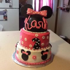 Mini mouse cake I made got lots of ideas from here thanks