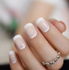 95 Best Chosen White Wedding Nails Design For Your Best Wedding - Page 58 of 95 - Trendy Elves Heart Nail Designs, Valentine's Day Nail Designs, Fake Nails French, Baby Pink Nails, Nailed It, Opi Nail Colors, Color Changing Nails, City Nails, Classic Nails