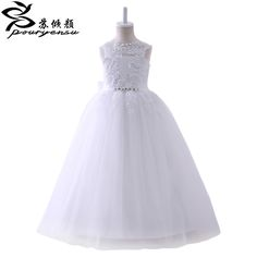 >> Click to Buy << 2017 Real Picture Lace Flower Girl Dresses Pageant Dresses For Little Girls First Communion Dresses For Girls White Ivory Custom #Affiliate