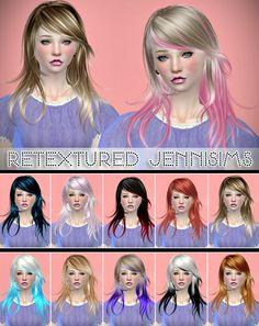 Jennisims: Downloads sims 4: Newsea Flying Dance Hair retextured