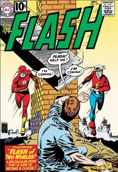 """The Flash #123 """"Flash of Two Worlds!"""" (September 1961) 