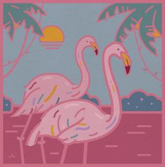 Pink Flamingo - 그래픽 디자인 · 일러스트레이션, 그래픽 디자인, 일러스트레이션, 그래픽 디자인, 일러스트레이션