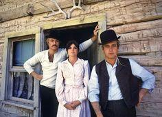 Robert Redford, Katharine Ross y Paul Newman en la pelicula dos hombres y un destino.
