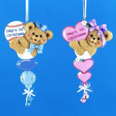 """Country Marketplace - """"Baby's First Christmas"""" Bear Ornament, $8.99 (http://www.countrymarketplaces.com/babys-first-christmas-bear-ornament/)"""