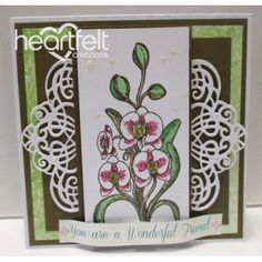 Heartfelt Creations - Orchid Stem Project