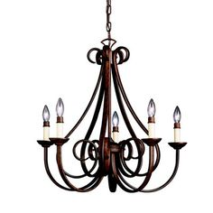 FREE SHIPPING! Shop Wayfair for Kichler Dover 5 Light Chandelier II - Great Deals on all Kitchen & Dining products with the best selection to choose from!
