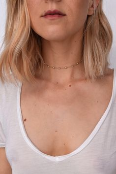 "STYLE | Delicate ball link choker  FINISH | 14k gold overlay, Rhodium  LENGTH | 10.5"" with a 3"" extender"