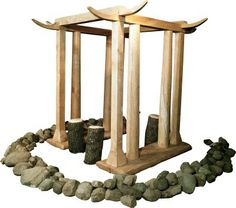 Reconstruction of a little bronze age temple found in a peat bog near Barger-Oosterveld - Drenthe - the Netherlands.