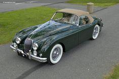 1959 Jaguar XK150, English racing green.
