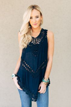 Mermaid Net Tank Top-shirts-Affordable Online Boutique | Cute + Trendy Women's Clothes - 1